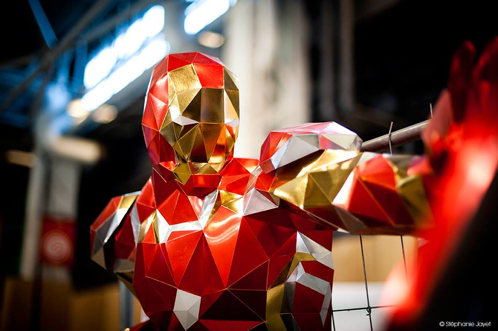 Iron Man Mark 43 Paper Papier Origami low poly