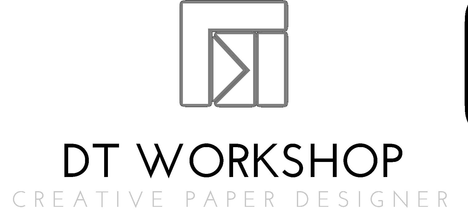 Logo DT WORKSHOP creative paper designer