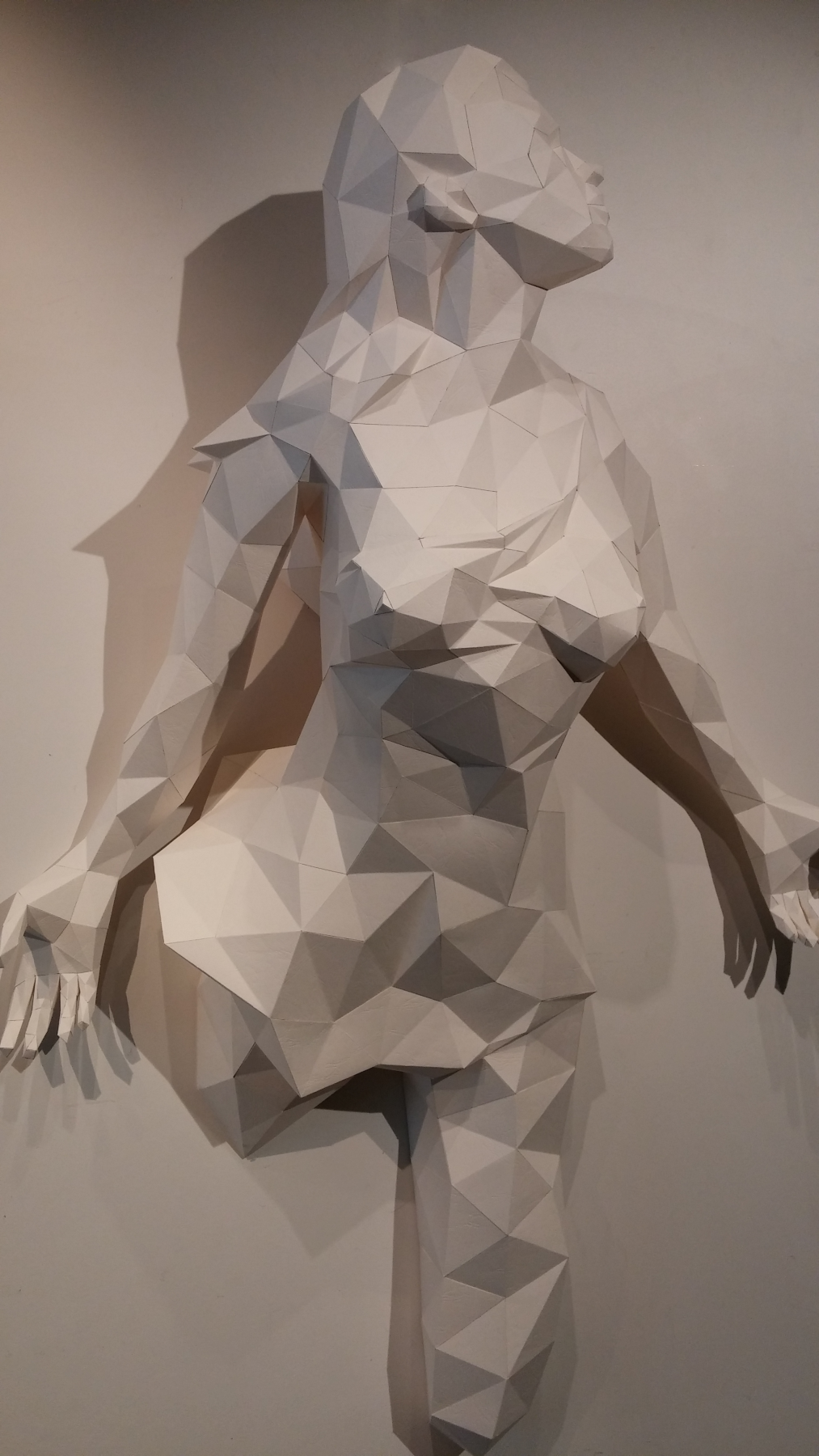 Paper Papier Angel Woman Origami Low Poly