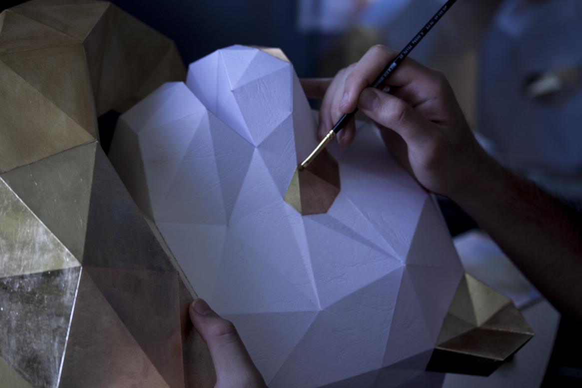 Paper Papier Chengdu Panda Origami Gold Leaf low poly