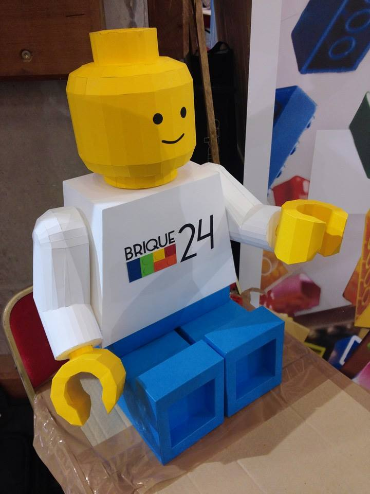 Paper Papier Lego Man Origami brique24 low poly