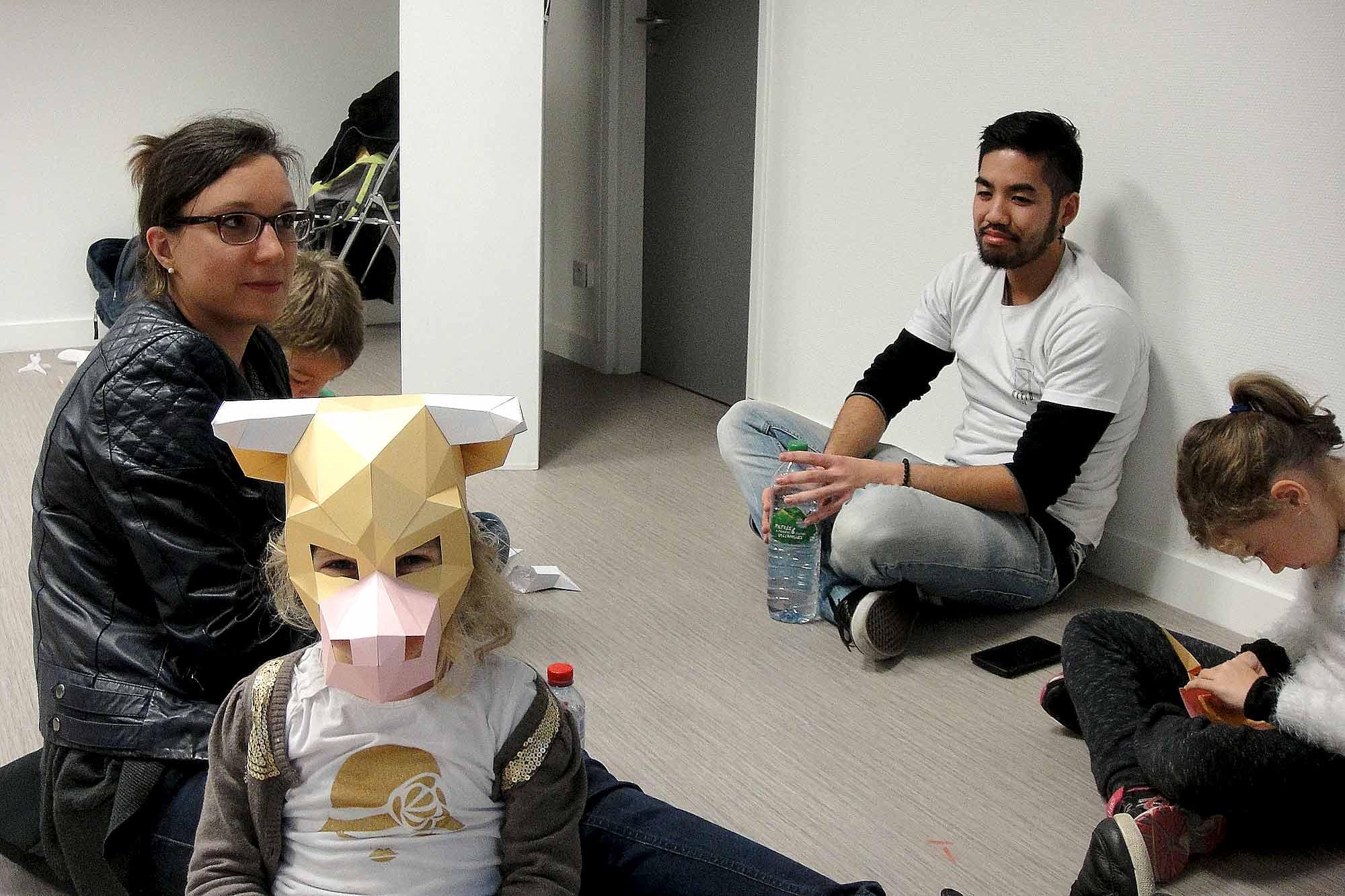 Paper Papier Masque Mask Origami Bull Taureau