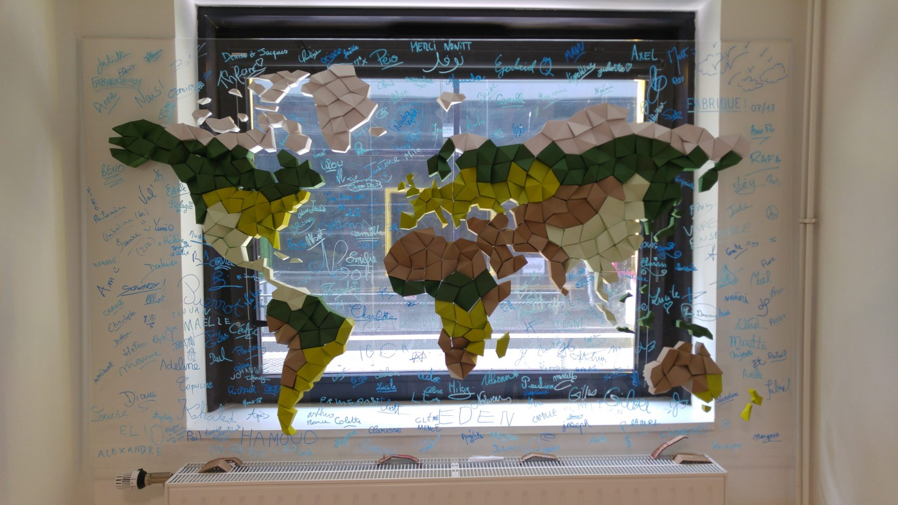 Paper Papier Monde World Map Origami