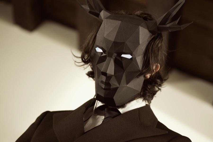 Wendigo Paper Papier Beaumanoir Mask Origami