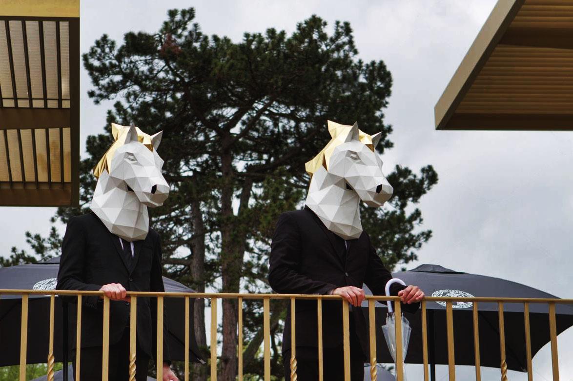 papier paper cheval horse longchamp masque mask origami papercraft dt workshop