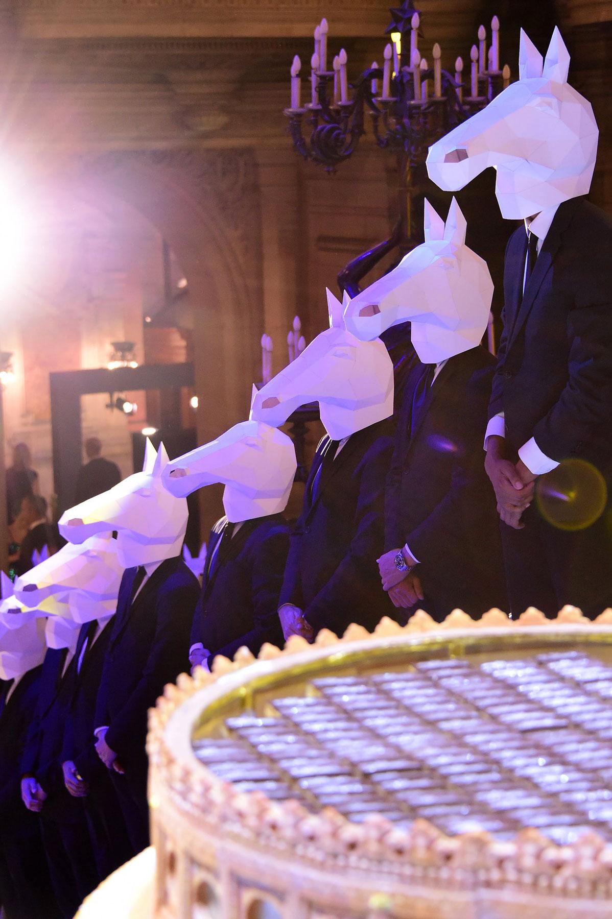 papier masque cheval horse mask papercraft origami longchamp dt workshop
