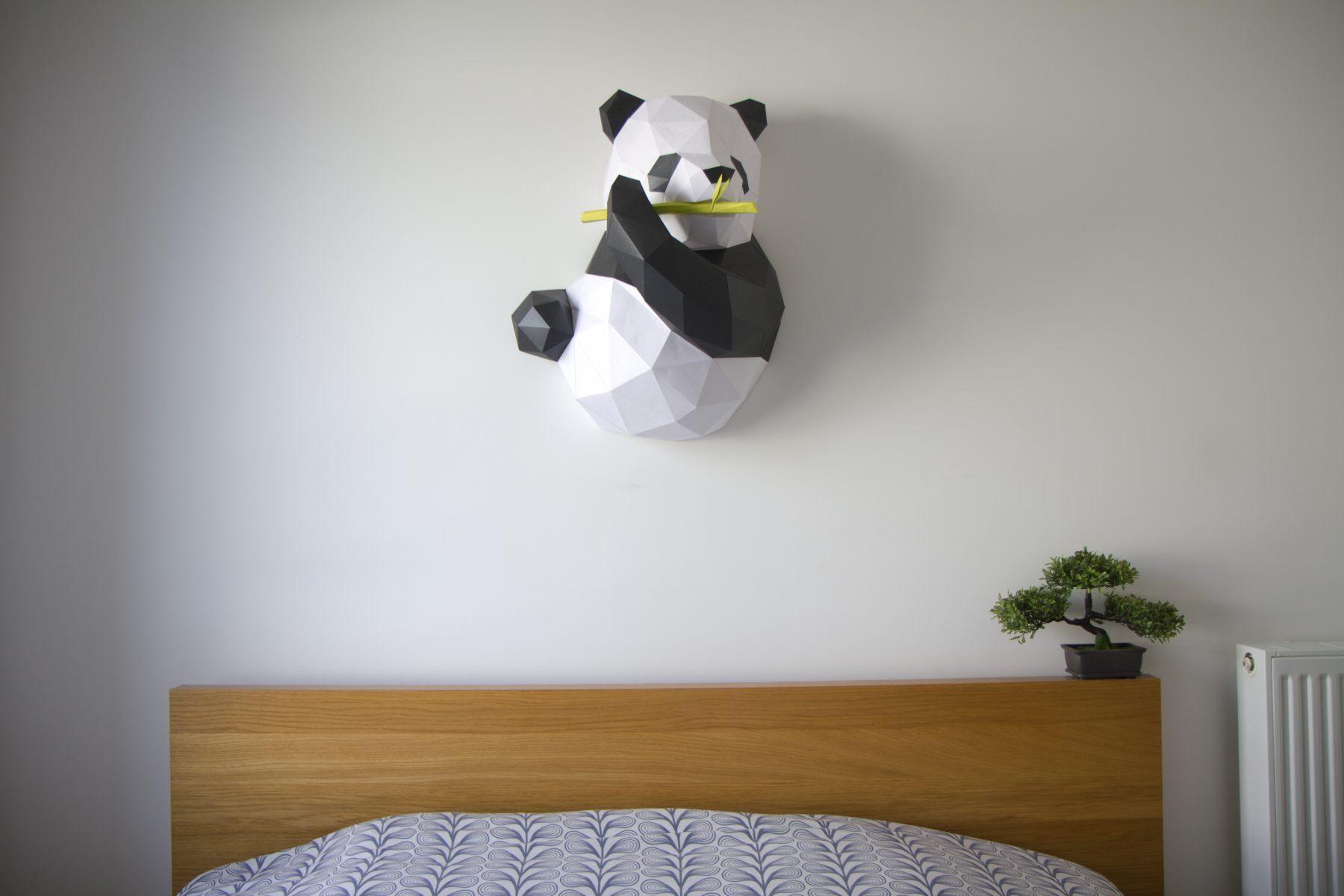 Paper Papier Chengdu Panda Origami low poly