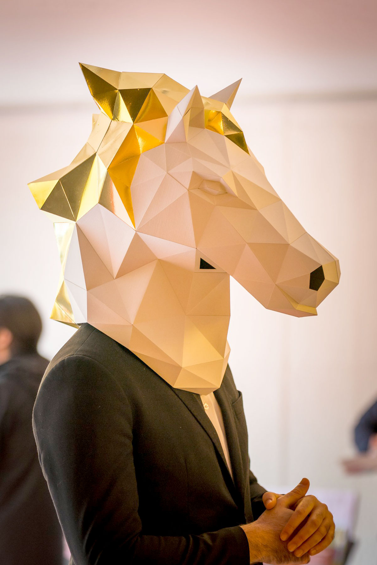 papier paper cheval horse longchamp masque mask origami papercraft dt workshop