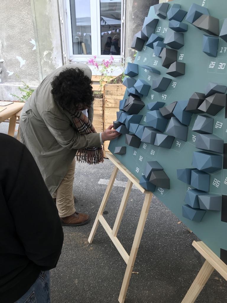Papercraft Origami Decoration Paper Papier Fresque Fresco Bird Oiseau La Forge Fontenay Workshop Adult